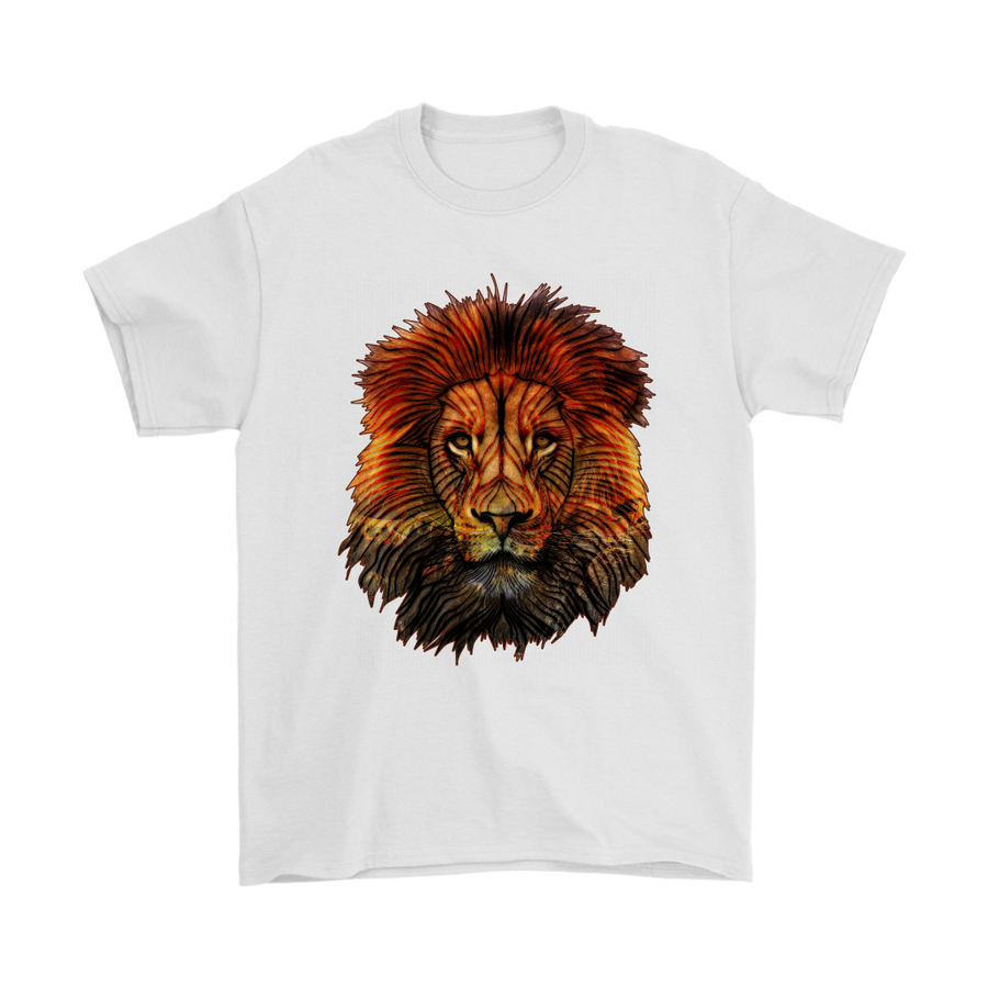 Lion T-Shirt - Animal Face T-Shirt