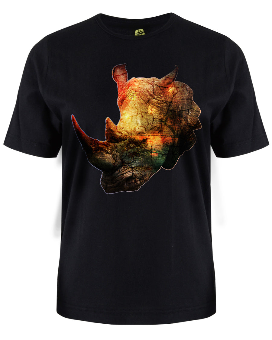 Rhinoceros T-Shirt - Animal Face T-Shirt