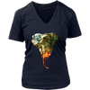 Thunder Elephan Women T-Shirt - Animal Face T-Shirt