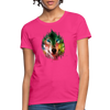 Wolf face Women's T-Shirt - fuchsia