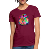 Lion with mane Women's T-Shirt - burgundy