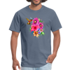 Hummingbird with flowers t-shirt - Animal Face T-Shirt - denim