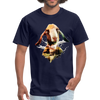 Goat t-shirt - Animal Face T-Shirt - navy