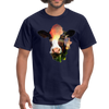 Holstein cow t-shirt - Animal Face T-Shirt - navy