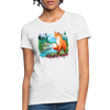 Fox with river Women's T-Shirt - white