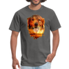Golden Retriever Dog t-shirt - Animal Face T-Shirt - charcoal