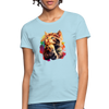 Praying Cat Women's T-Shirt - powder blue