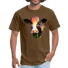 Holstein cow t-shirt - Animal Face T-Shirt - brown