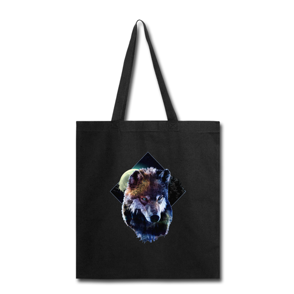 Wolf Tote Bag - black