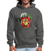 Tiger with Moon Hoodie - charcoal gray
