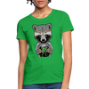 Racoon Women's T-Shirt - bright green