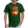 Golden Retriever Dog t-shirt - Animal Face T-Shirt - forest green