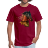 Horse t-shirt - Animal Face T-Shirt - burgundy