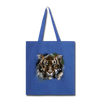 Tiger Tote Bag - royal blue