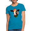 Holstein cow Women's T-Shirt - turquoise