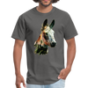 Donkey t-shirt - Animal Face T-Shirt - charcoal