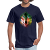 Colorful wolf t-shirt - navy