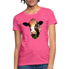 Holstein cow Women's T-Shirt - heather pink