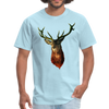 Deer t-shirt - Animal Face T-Shirt - powder blue