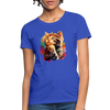 Praying Cat Women's T-Shirt - royal blue