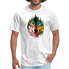 Colorful wolf t-shirt - light heather grey