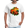 Striking tree snake t-shirt - Animal Face T-Shirt - white