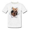 Cat with eyes Kid's Premium Organic T-Shirt - white