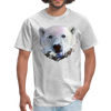 Polar bear t-shirt - Animal Face T-Shirt - heather gray