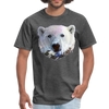 Polar bear t-shirt - Animal Face T-Shirt - heather black