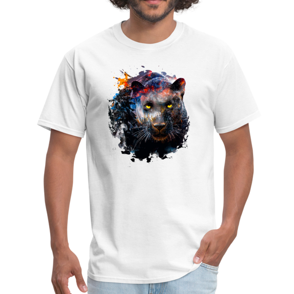 Black panther t-shirt - Animal Face T-Shirt - white