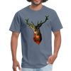Deer t-shirt - Animal Face T-Shirt - denim