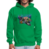 Sea turtle hoodie - Animal Face Hoodie - kelly green