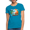 Fox with river Women's T-Shirt - turquoise