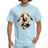Goat t-shirt - Animal Face T-Shirt - powder blue