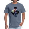 Young wolf standing T-Shirt - Animal Face T-Shirt - denim