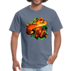 Striking tree snake t-shirt - Animal Face T-Shirt - denim