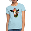 Holstein cow Women's T-Shirt - powder blue