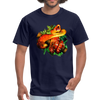 Striking tree snake t-shirt - Animal Face T-Shirt - navy