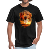 Golden Retriever Dog t-shirt - Animal Face T-Shirt - black