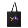 Hummingbird Tote Bag - black