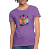 Lion with mane Women's T-Shirt - purple heather