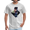 Young wolf standing T-Shirt - Animal Face T-Shirt - heather gray