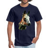 Donkey t-shirt - Animal Face T-Shirt - navy