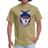 Wolf  t-shirt - Animal Face T-Shirt - khaki