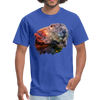 River Beaver T-Shirt - Animal Face T-Shirt - royal blue