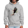 Eagle hoodie - Animal Face Hoodie - heather gray