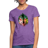 Wolf face Women's T-Shirt - purple heather