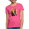 Praying Cat Women's T-Shirt - heather pink