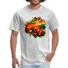 Striking tree snake t-shirt - Animal Face T-Shirt - heather gray