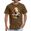 Goat t-shirt - Animal Face T-Shirt - brown